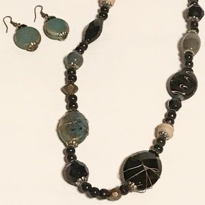 Jewelry - Fashion jewelry set -necklace and earrings